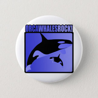Orca Whales Rock! 6 Cm Round Badge