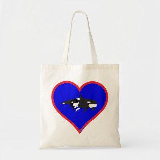 orcas budget tote bag