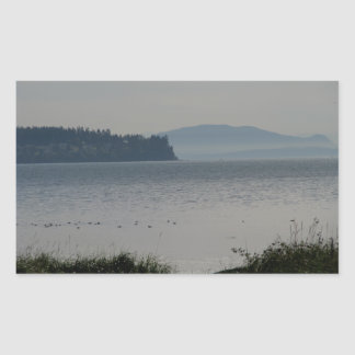 Orcas Island From Birch Bay Rectangle Sticker