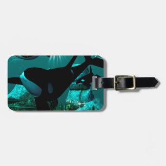 Orcas Luggage Tag