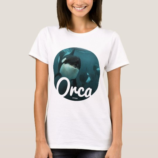 Orcas underwater circle T-Shirt