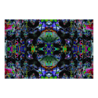 """Orchadia 18"" Abstract Orchid Meditation Art Poster"