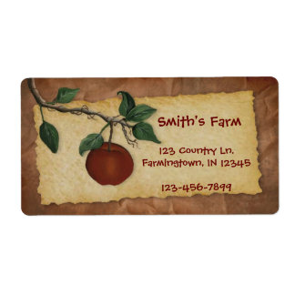 Orchard Apple Business Label Shipping Label