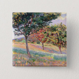 Orchard at St. Cheron, 1893 (oil on canvas) 15 Cm Square Badge