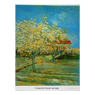 Orchard by Vincent van Gogh Poster