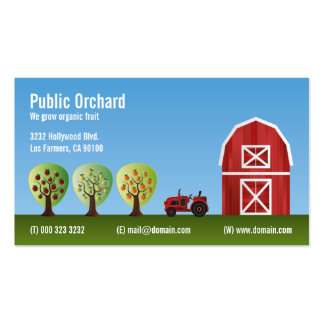Orchard Fruit Growers Pack Of Standard Business Cards