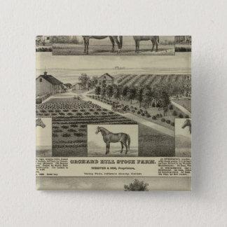 Orchard Hill and Cedar Grove, Kansas 15 Cm Square Badge