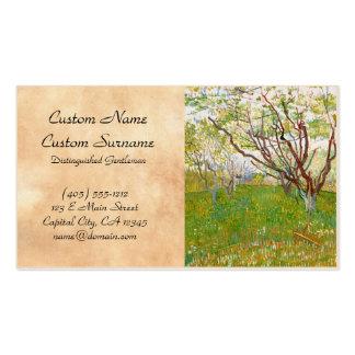 Orchard in Bloom Vincent van Gogh  fine art Business Cards