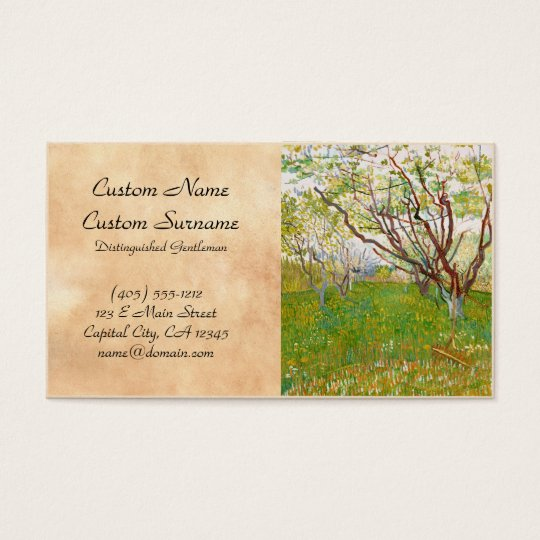 Orchard in Bloom Vincent van Gogh  fine art Business Card