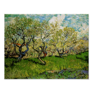 Orchard in Blossom Amsterdam Van Gogh Fine Art Poster