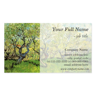 Orchard in Blossom, fine art professional business Business Card Template