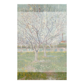 Orchard in Blossom Plum Trees by Vincent Van Gogh 14 Cm X 21.5 Cm Flyer