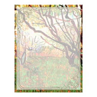 Orchard in Blossom, Vincent van Gogh. 21.5 Cm X 28 Cm Flyer