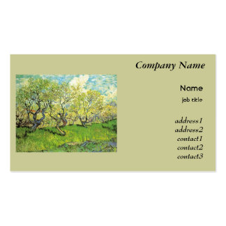 Orchard in Blossom Vincent van Gogh Business Cards