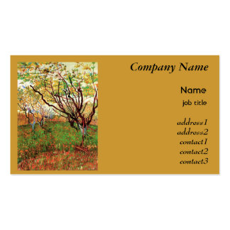 Orchard in Blossom Vincent van Gogh Business Card Template