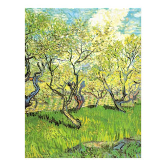 Orchard in Blossom, Vincent van Gogh. Custom Flyer