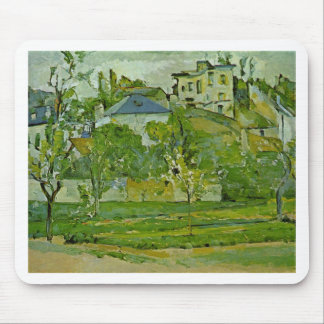 Orchard in Pontoise by Paul Cezanne Mouse Mat