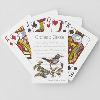 Orchard Oriole Word Art Playing Cards