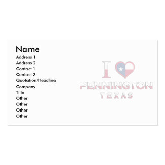 Orchard, Texas Business Card