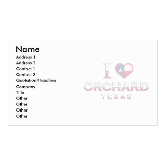 Orchard Texas Business Card Templates