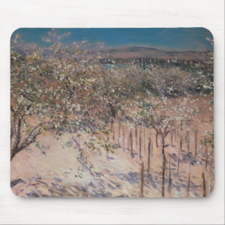 Orchard with Flowering Apple Trees, Colombes Mouse Mat