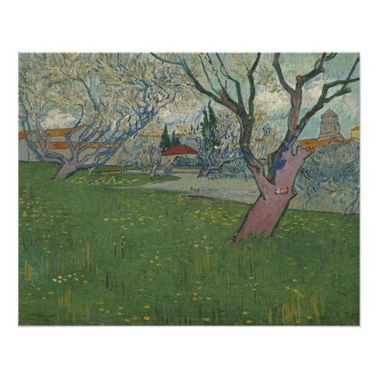 Orchards in Blossom View of Arles by Van