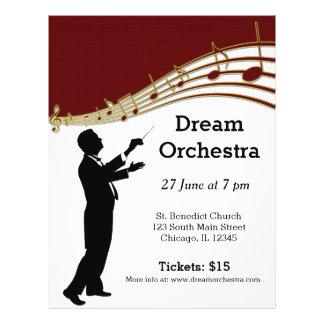 Orchestra concert 21.5 cm x 28 cm flyer
