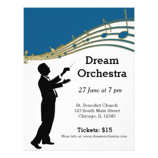 Orchestra concert flyers