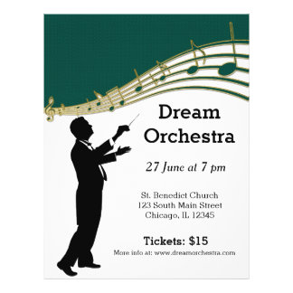 Orchestra concert custom flyer