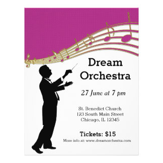 Orchestra concert flyer