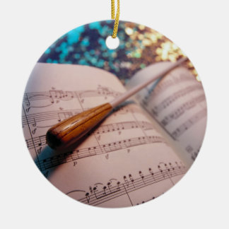 Orchestra Conductor Elements 3 Christmas Ornament