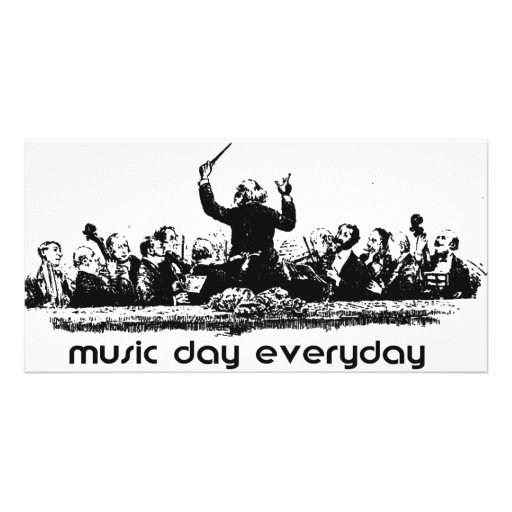 Orchestra design for Music Day! Personalized Photo Card