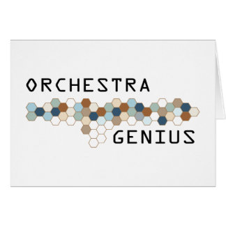 Orchestra Genius Greeting Card
