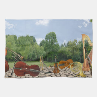 Orchestra Instruments in the Park Kitchen Towel