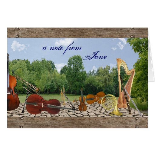Orchestra Instruments Notecard Greeting Cards