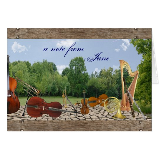 Orchestra Instruments Notecard