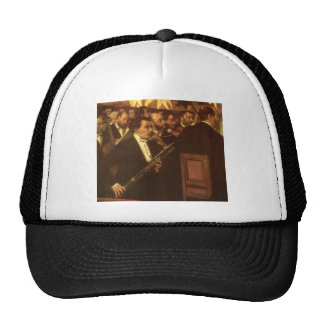 Orchestra of Opera by Degas, Vintage Impressionism Cap