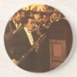 Orchestra of Opera by Degas, Vintage Impressionism Drink Coasters