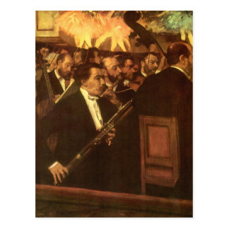 Orchestra of Opera by Degas Vintage Impressionism Post Cards