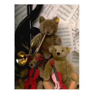 Orchestral bears postcard