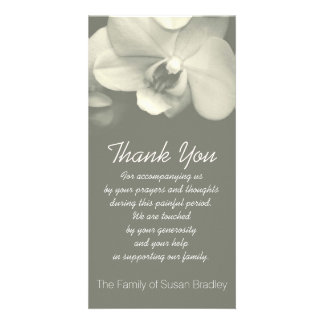 Orchid 5 Sympathy Thank you Photo Card