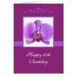 Orchid 60th Birthday Card