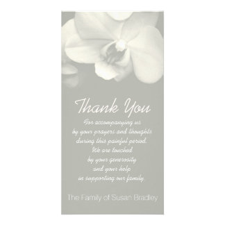 Orchid 6 Sympathy Thank you Photo Card