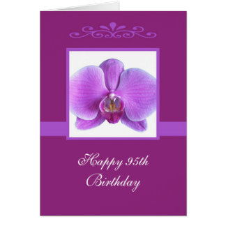 Orchid 95th Birthday Card