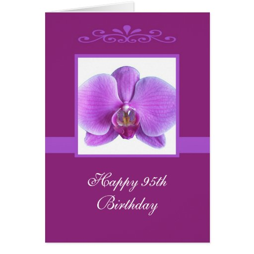 Orchid 95th Birthday Card