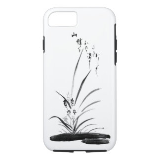 Orchid and Bee classic Zen painting iPhone 7 Case