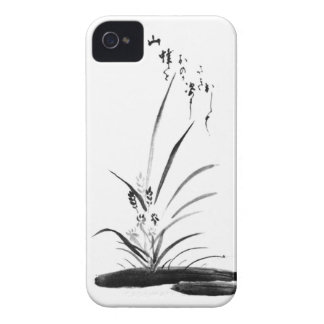 Orchid and Bee Zen painting iPhone 4 Covers