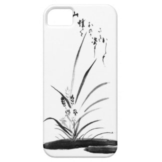 Orchid and Bee Zen painting iPhone 5 Cases