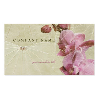 Orchid and Leaves Pack Of Standard Business Cards