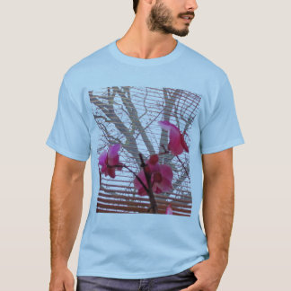 Orchid and Tree arty shirt